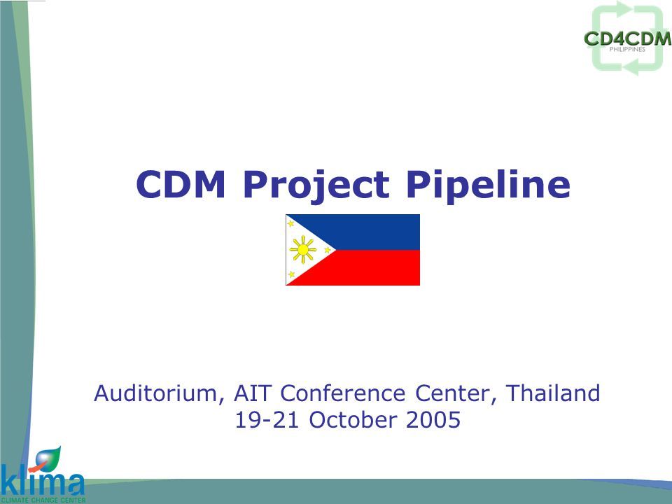 Outline A.CDM Pipeline in the Philippines B.CDM issues affecting the development of CDM projects C.