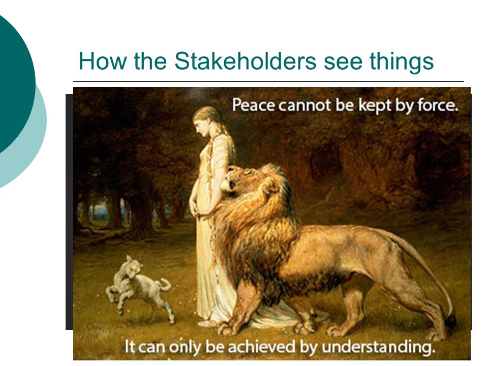 How the Stakeholders see things