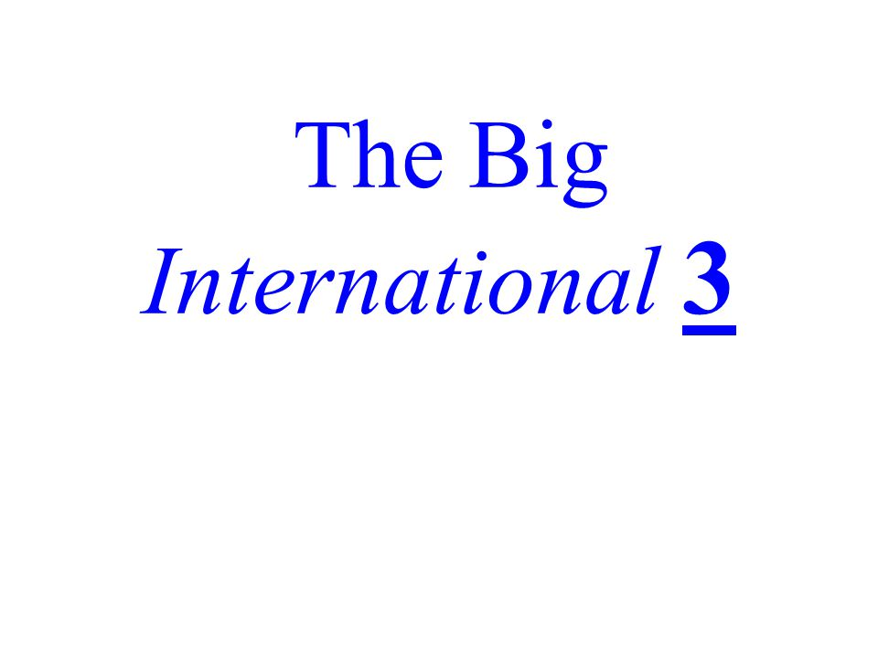 The Big International 3