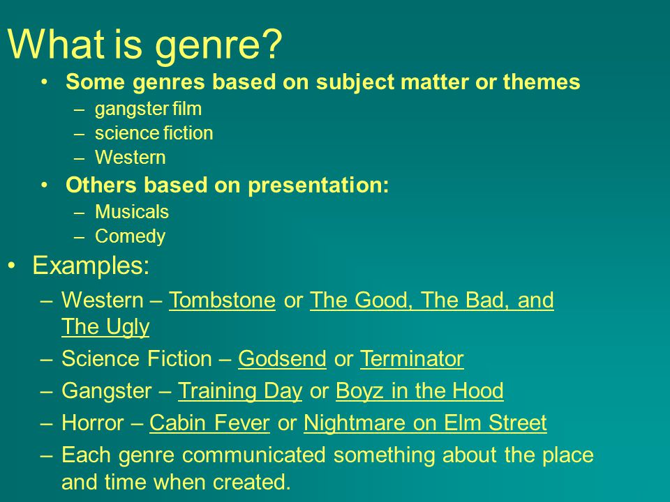 What is genre.