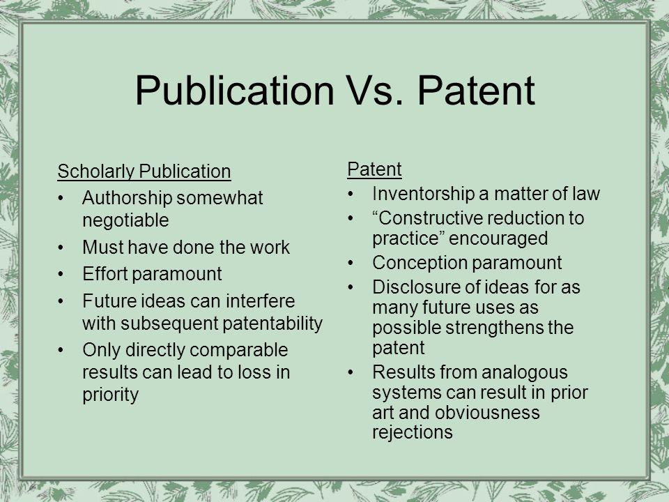 Publication Vs.
