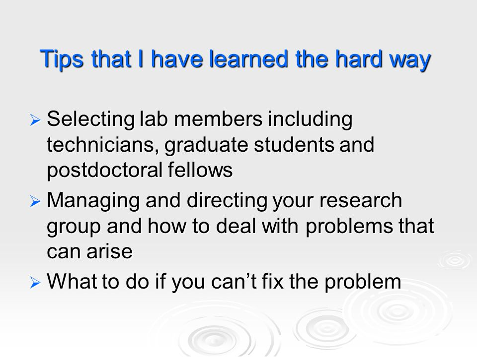 How do you choose laboratory personnel.
