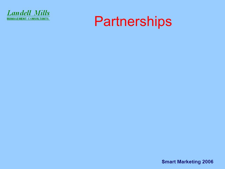 Smart Marketing 2006 Partnerships