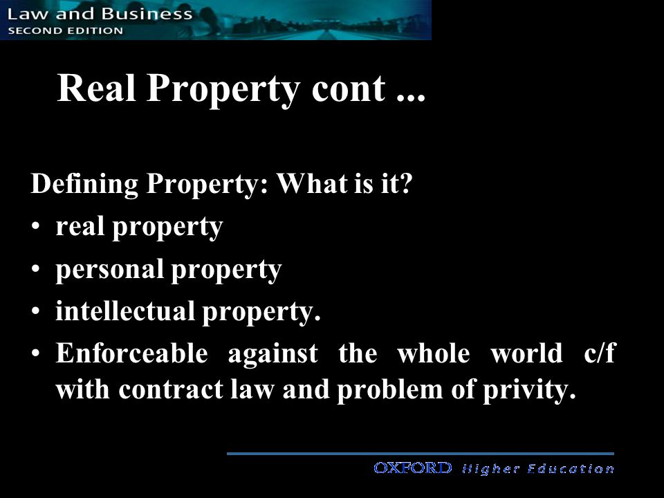 Real Property cont...