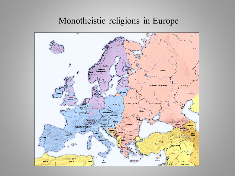 Monotheistic religions in Europe