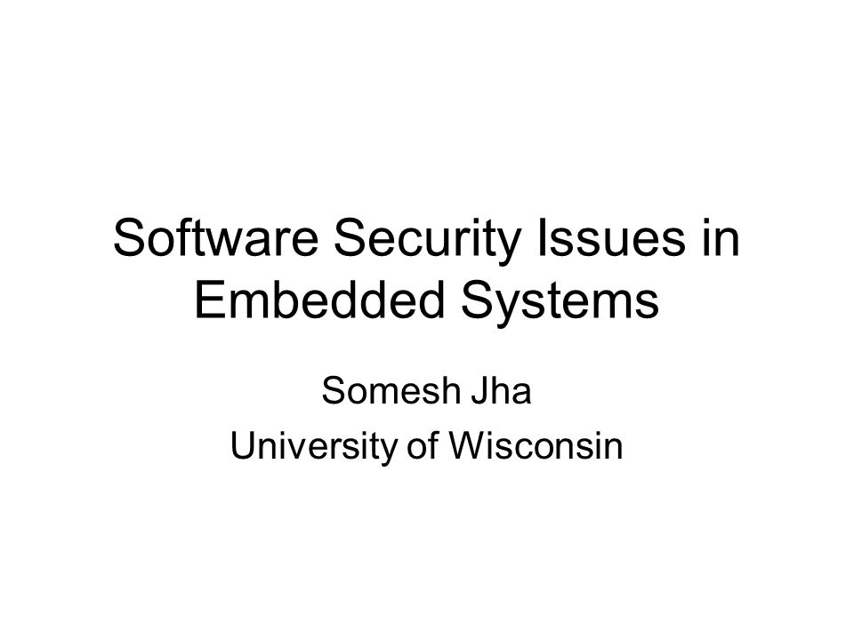 Software Security Vulnerability Assessment –Analysis tools for discovering vulnerabilities in source code and binaries Automated Signature Generation –Generating signatures that filter our malicious inputs Malicious Code Detection –Detecting whether a binary has malicious behavior