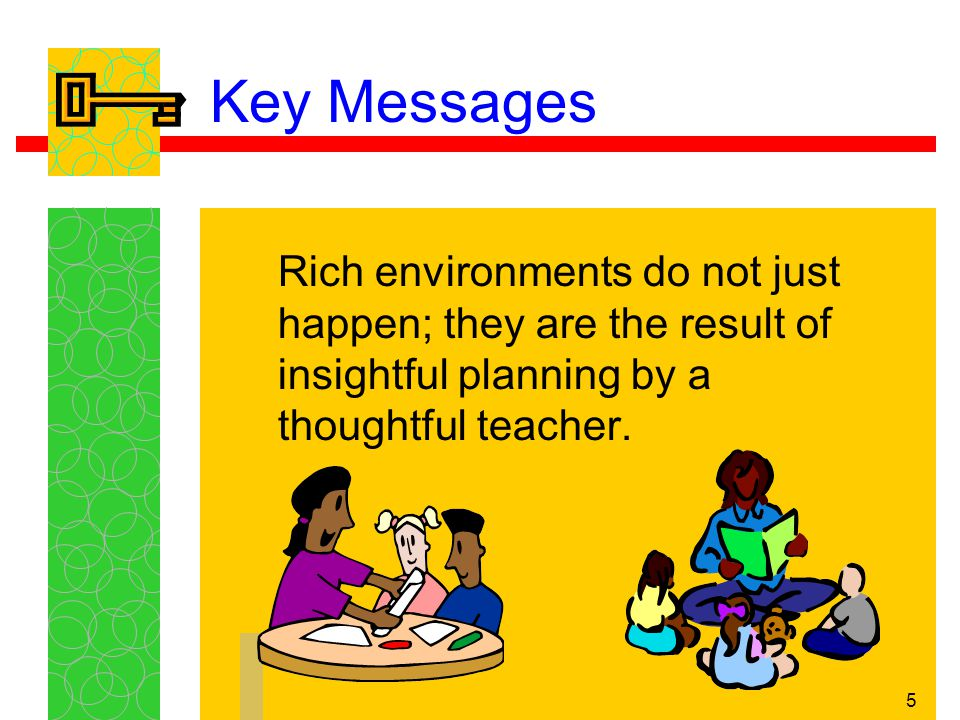 6 Key Messages Before a teacher can institute effective planning, he or she must have a firm grasp of the basic principles of teaching and learning.