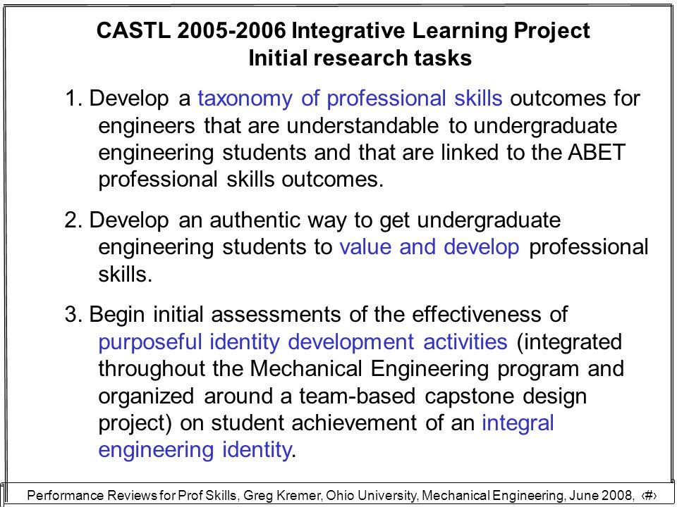 Performance Reviews for Prof Skills, Greg Kremer, Ohio University, Mechanical Engineering, June 2008, 28 Thanks.