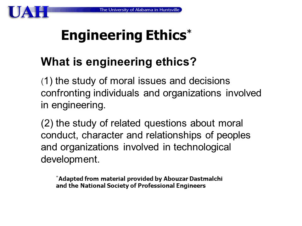 What is engineering ethics.