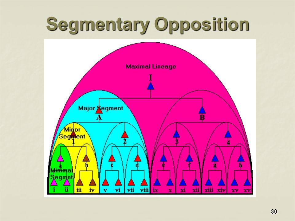 30 Segmentary Opposition