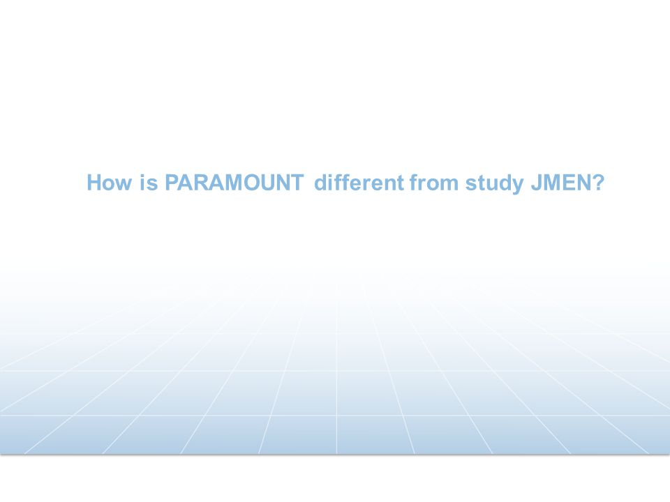 How is PARAMOUNT different from study JMEN