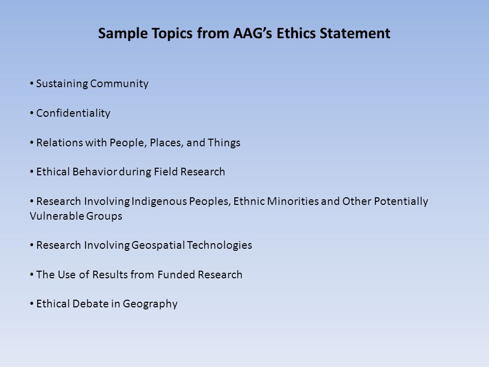 NSF-Funded AAG Project on GIS and Ethics Ethics Education for Current and Aspiring Geospatial Professionals: Developed and instituted ethics seminars within graduate geography programs at Penn State, Oregon State, and the University of Minnesota.