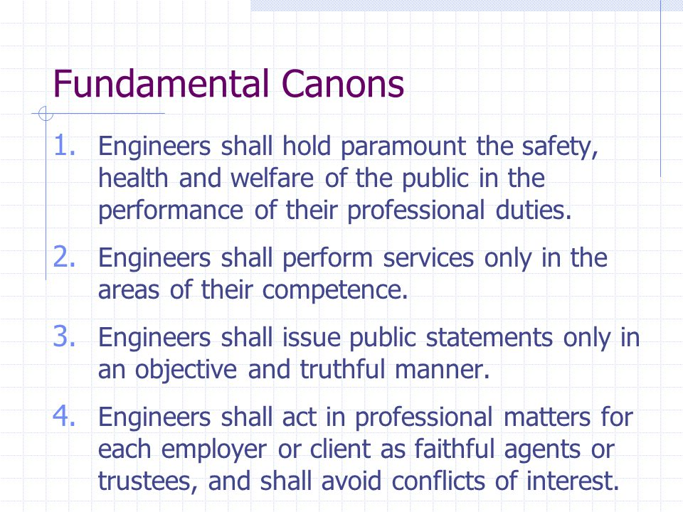 Fundamental Canons 1.