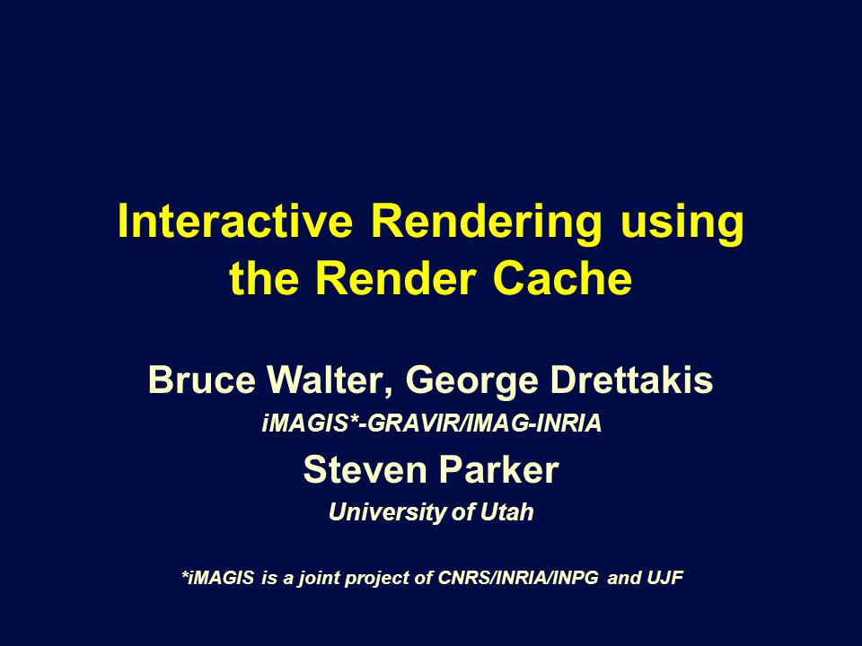Motivation Goal: Interactive rendering Ray tracingPath tracing