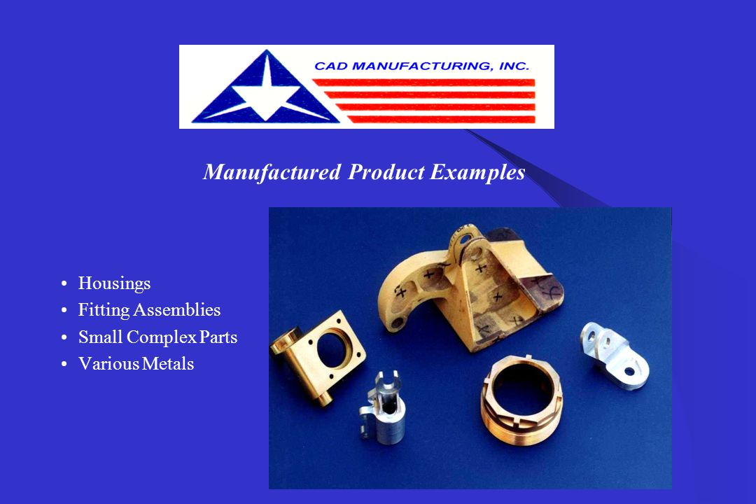 Manufactured Product Examples Housings Ribs Panels Stringers