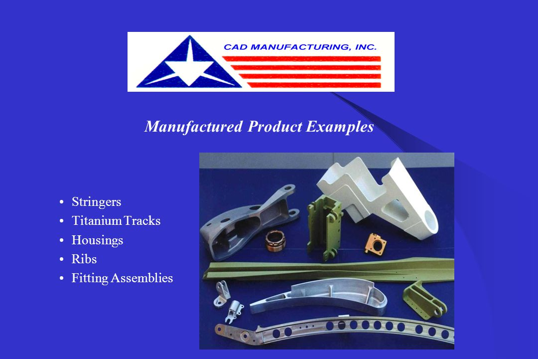 Manufactured Product Examples Housings Fitting Assemblies Small Complex Parts Various Metals