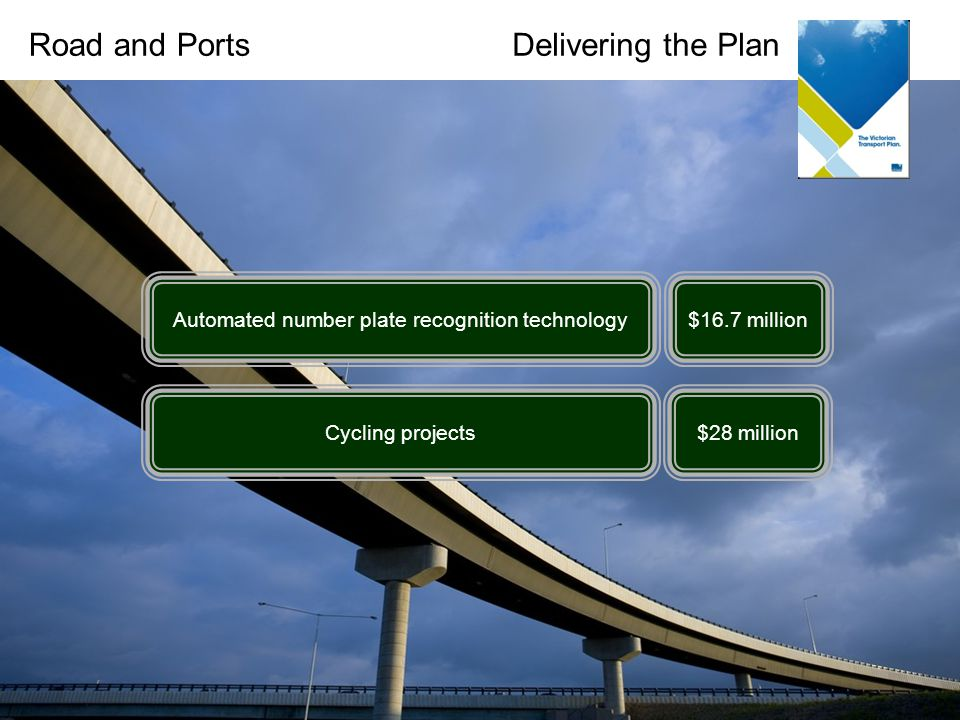 Warrnambool Hamilton Portland Mt Gambier Geelong Colac Delivering the PlanRoad and Ports Automated number plate recognition technology Cycling projects $16.7 million $28 million