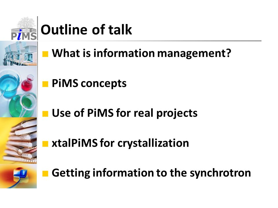 Outline of talk ■ What is information management.