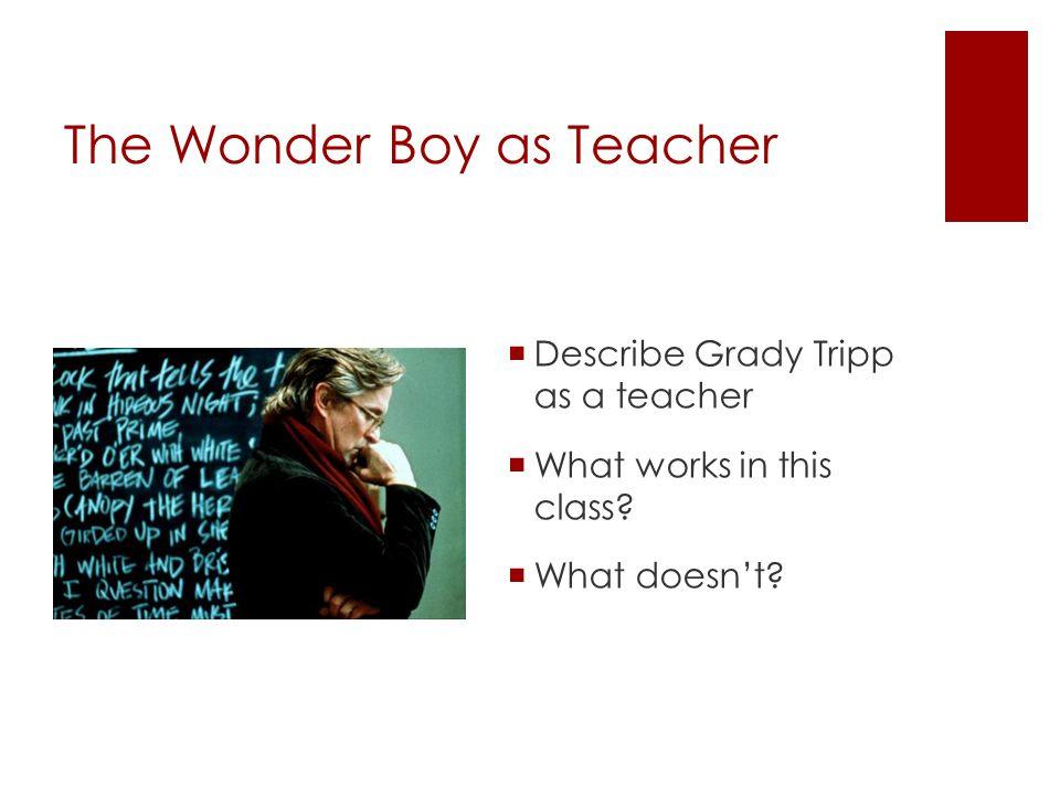 The Wonder Boy as Teacher  Describe Grady Tripp as a teacher  What works in this class.