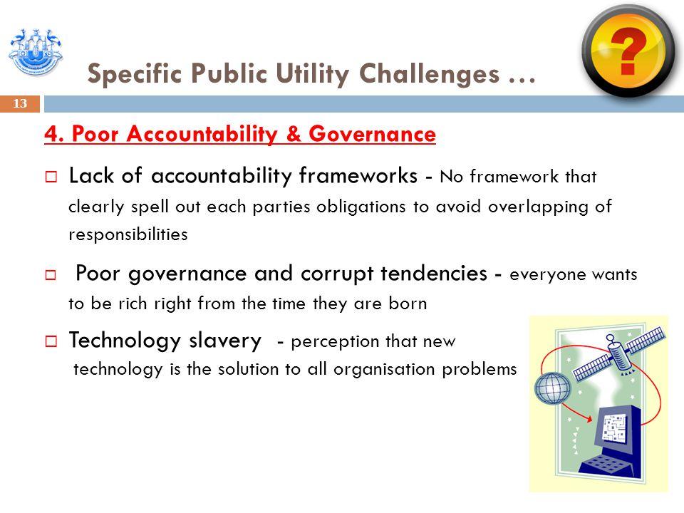 Specific Public Utility Challenges … 13 4.
