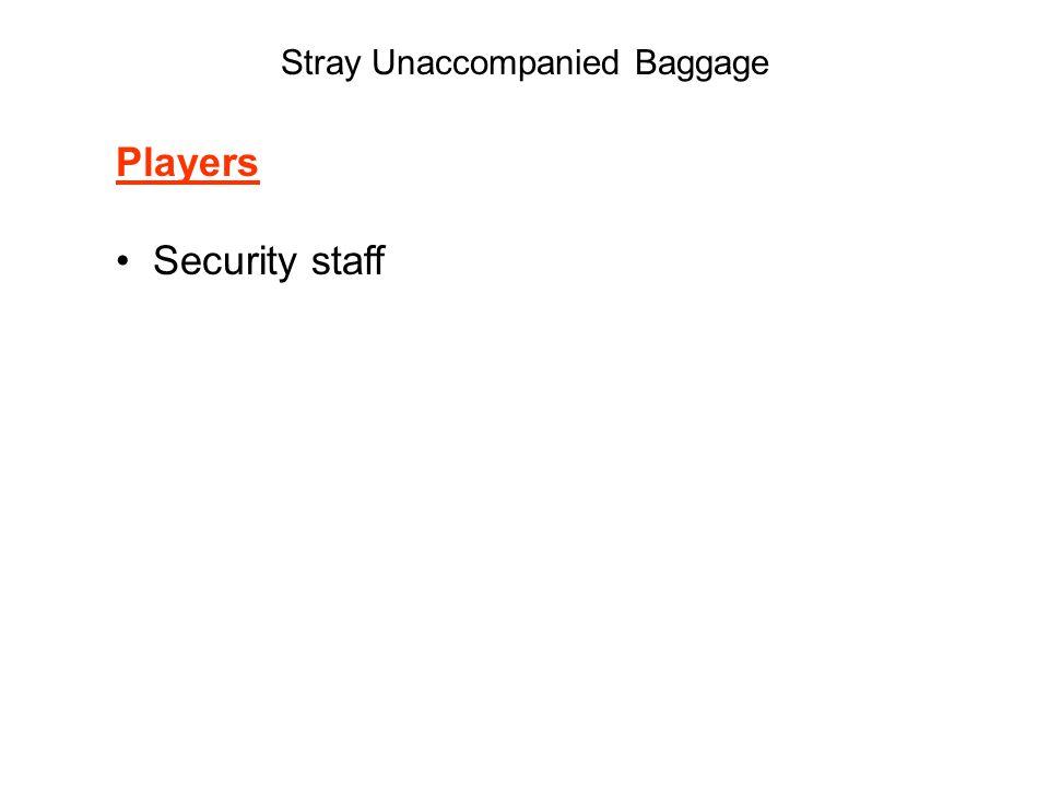 Stray Unaccompanied Baggage Players Security staff