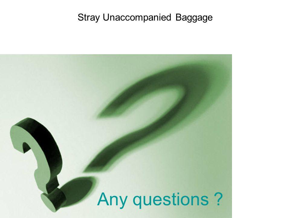 Stray Unaccompanied Baggage Any questions