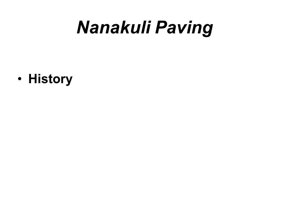 Nanakuli Paving History