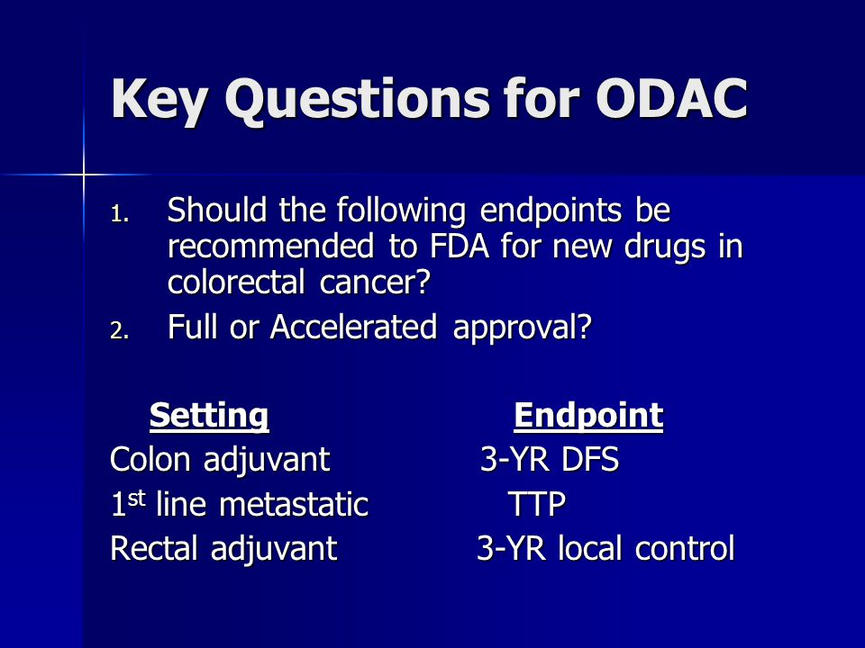 Key Questions for ODAC 1.