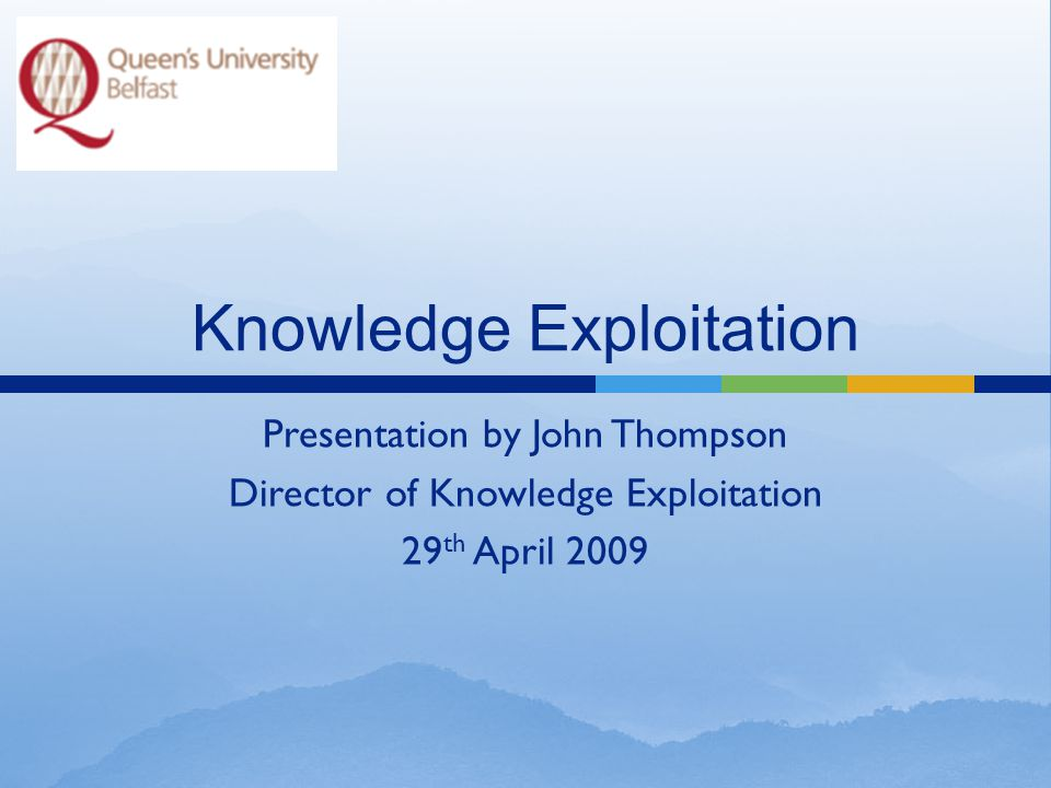  What is Knowledge Exploitation.