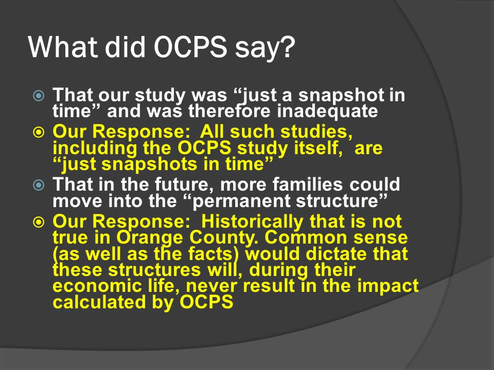 What did OCPS say.