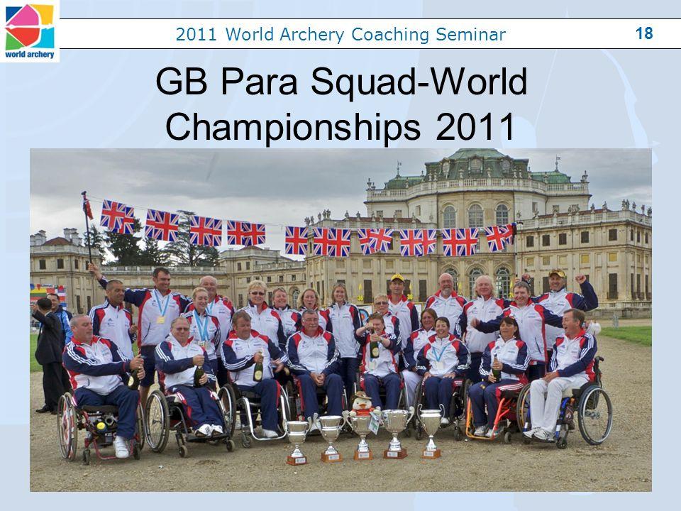 2011 World Archery Coaching Seminar 18 GB Para Squad-World Championships 2011