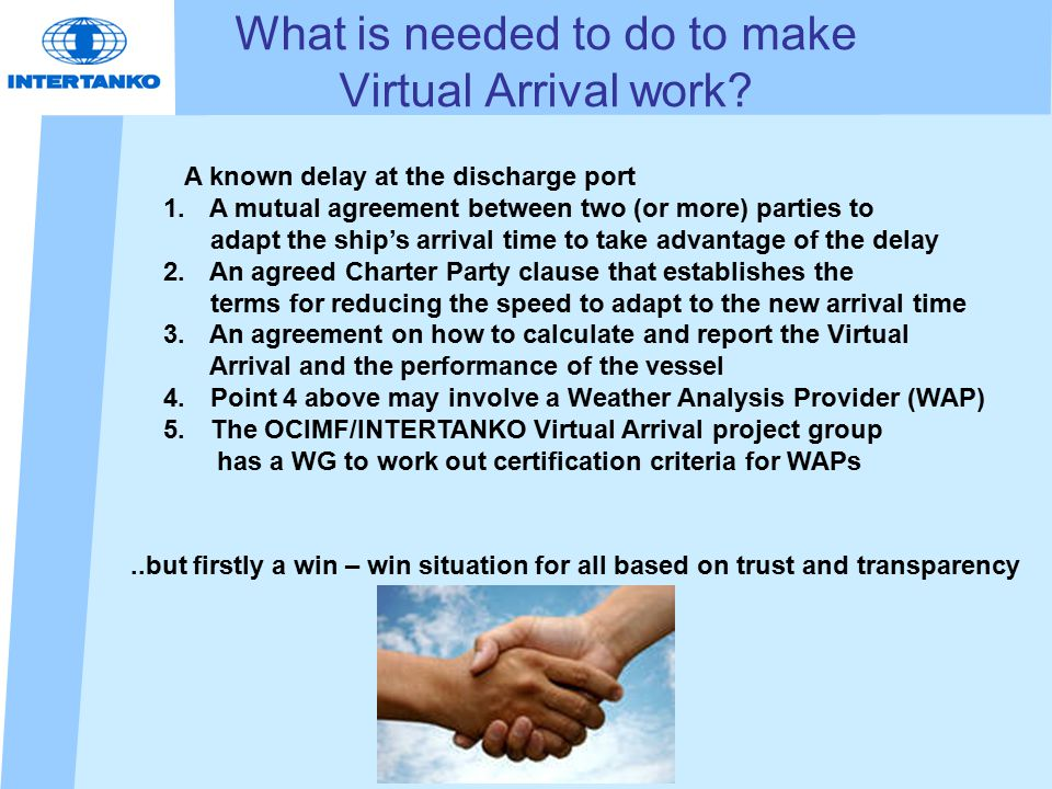 What is needed to do to make Virtual Arrival work.