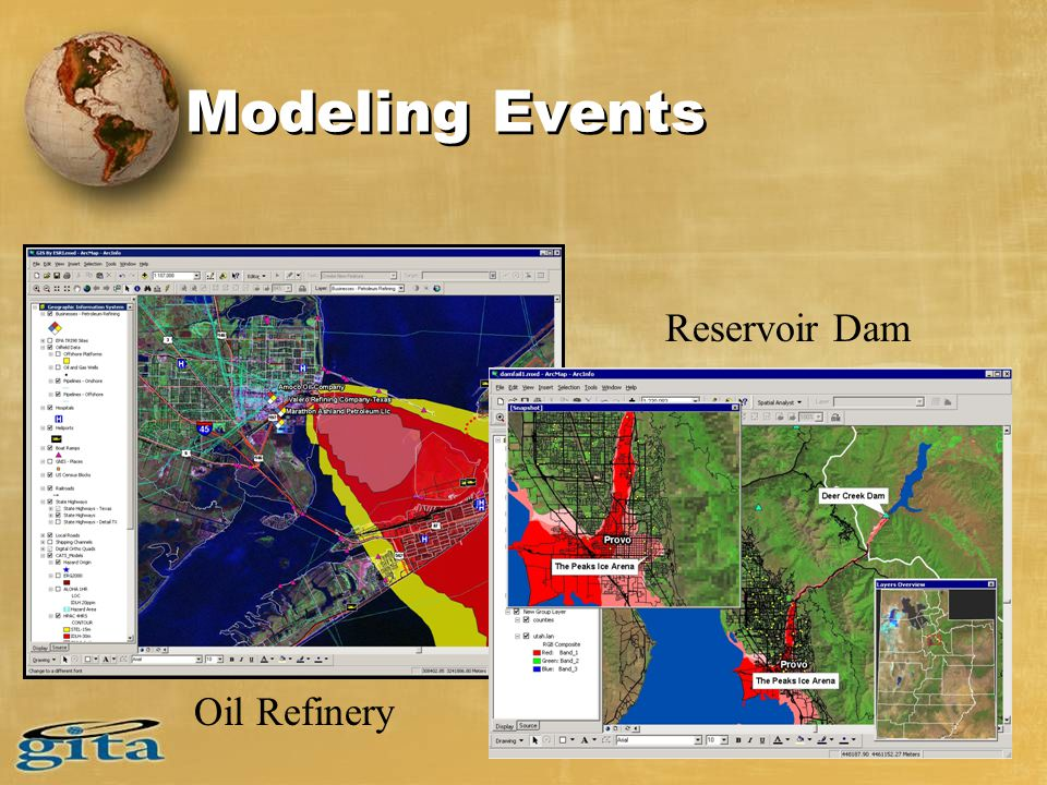Modeling Events Oil Refinery Reservoir Dam