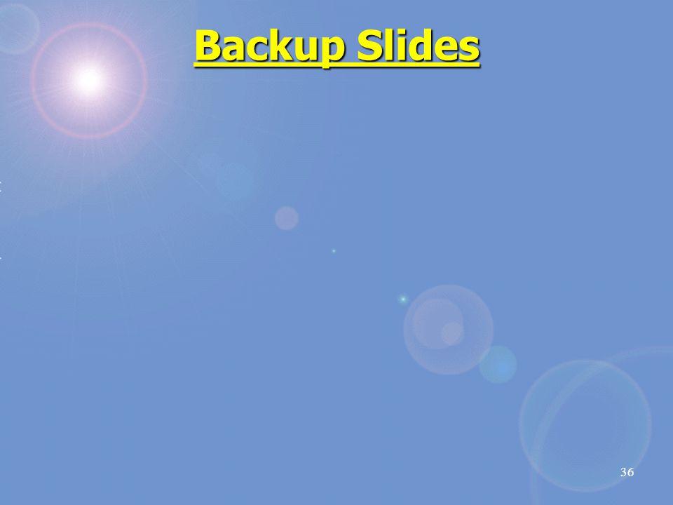 Backup Slides 36