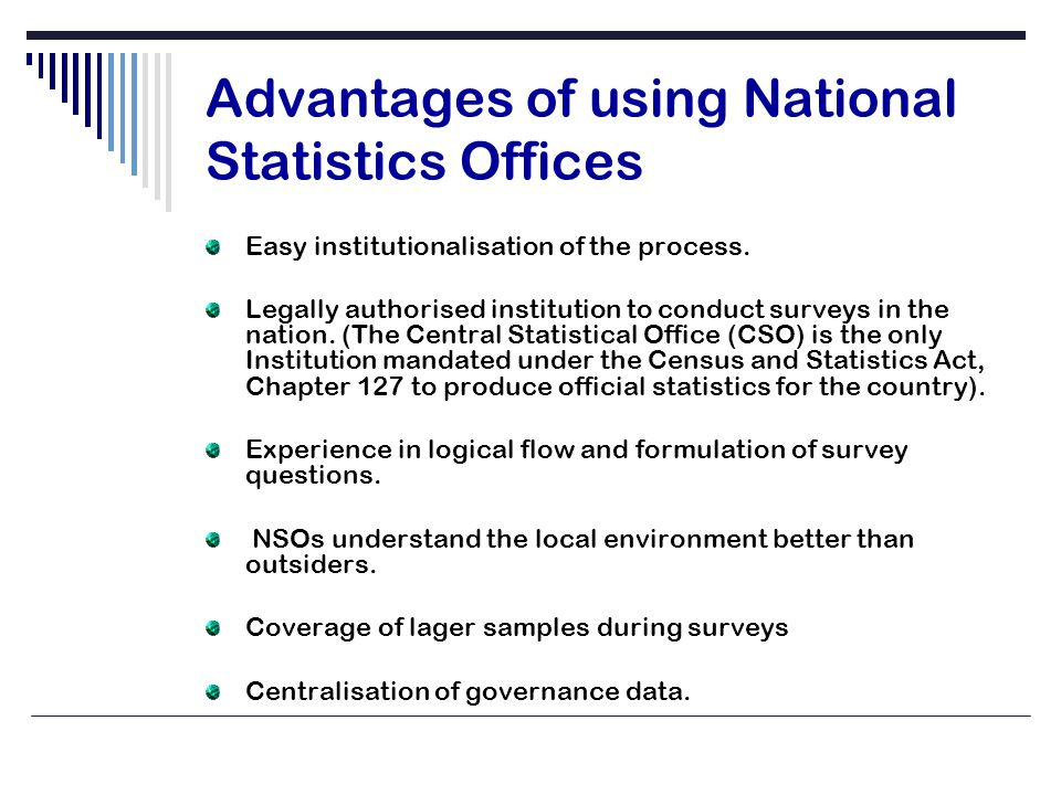 CONCLUSION Governance Assessment should be everyone's concern in order to establish vibrant National Statistics Offices.
