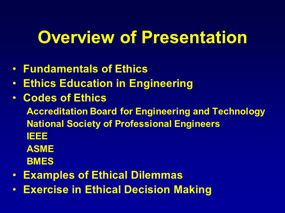 Ethical issues permeate our world…