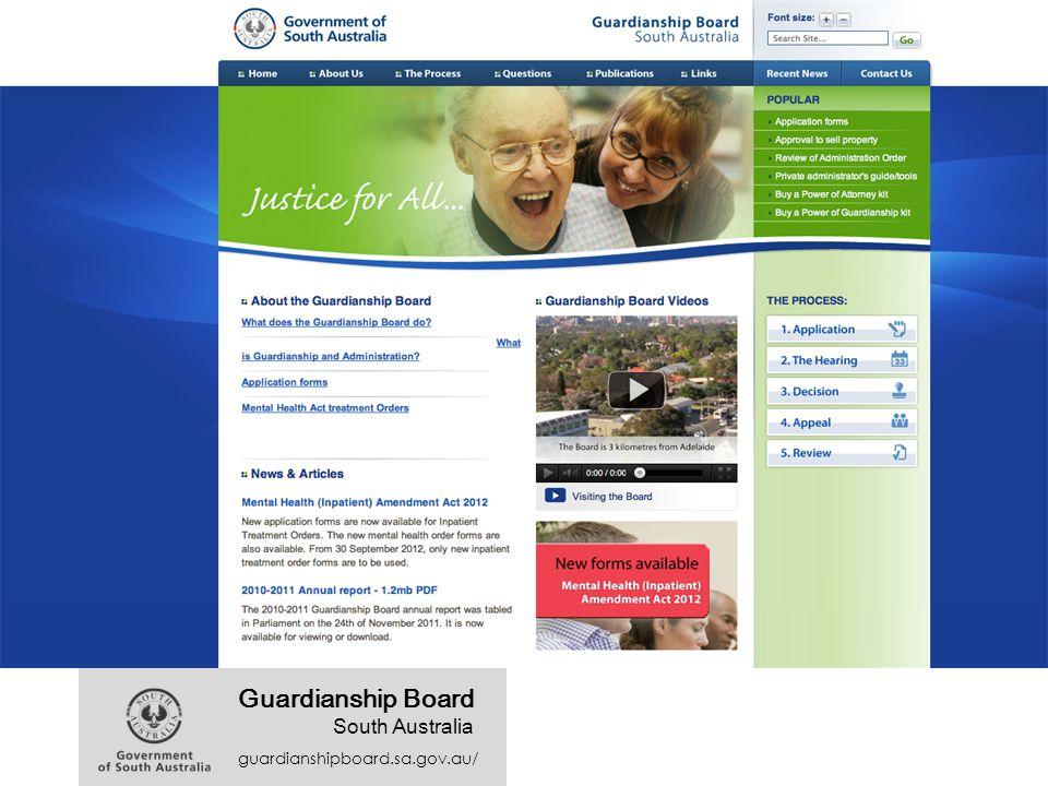 guardianshipboard.sa.gov.au/ Guardianship Board South Australia