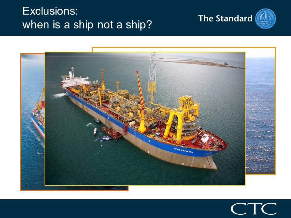 Exclusions: when is a ship not a ship?