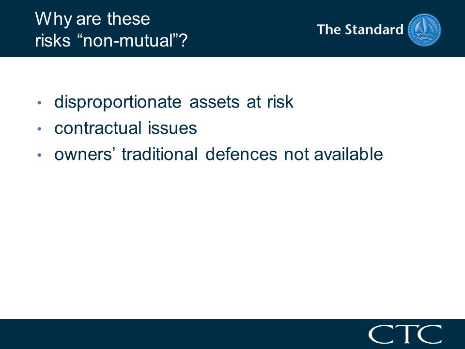 P&I insurance: how can we cover non- mutual risks.