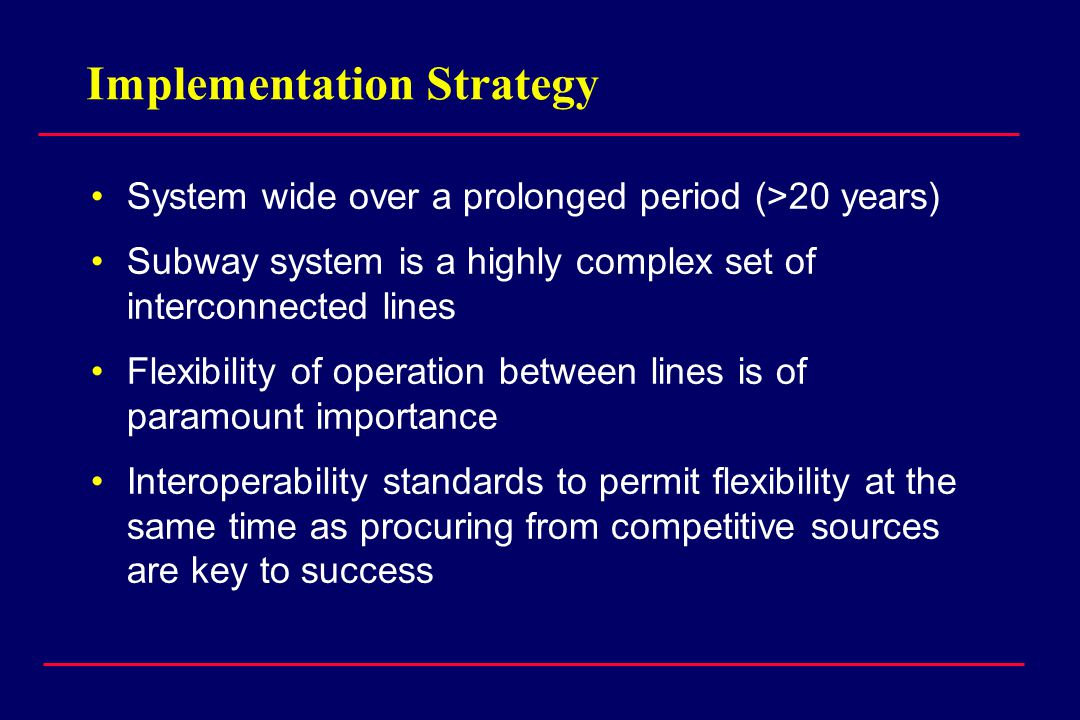 Pilot Project Procurement Strategy Six Proposals Three Demonstrators Phase III, Reengineer systems, demonstrate interoperability through test Phase II, Install Pilot Line, Develop Interoperability Specifications Advertise RFP Shortlist Three Select Lead (and standard) One Lead Contractor Two Follower Contractors