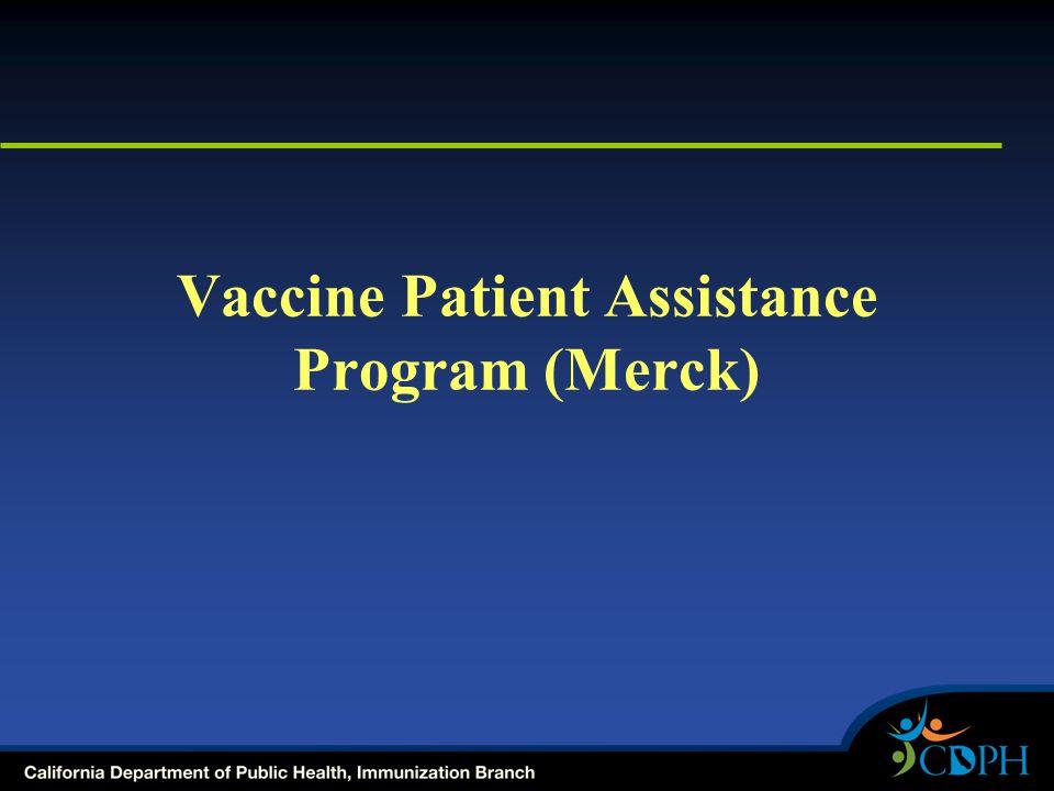 Vaccine Patient Assistance Program (Merck)
