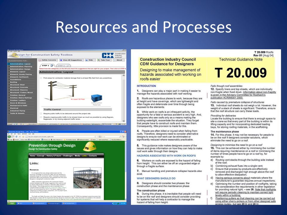 Resources and Processes