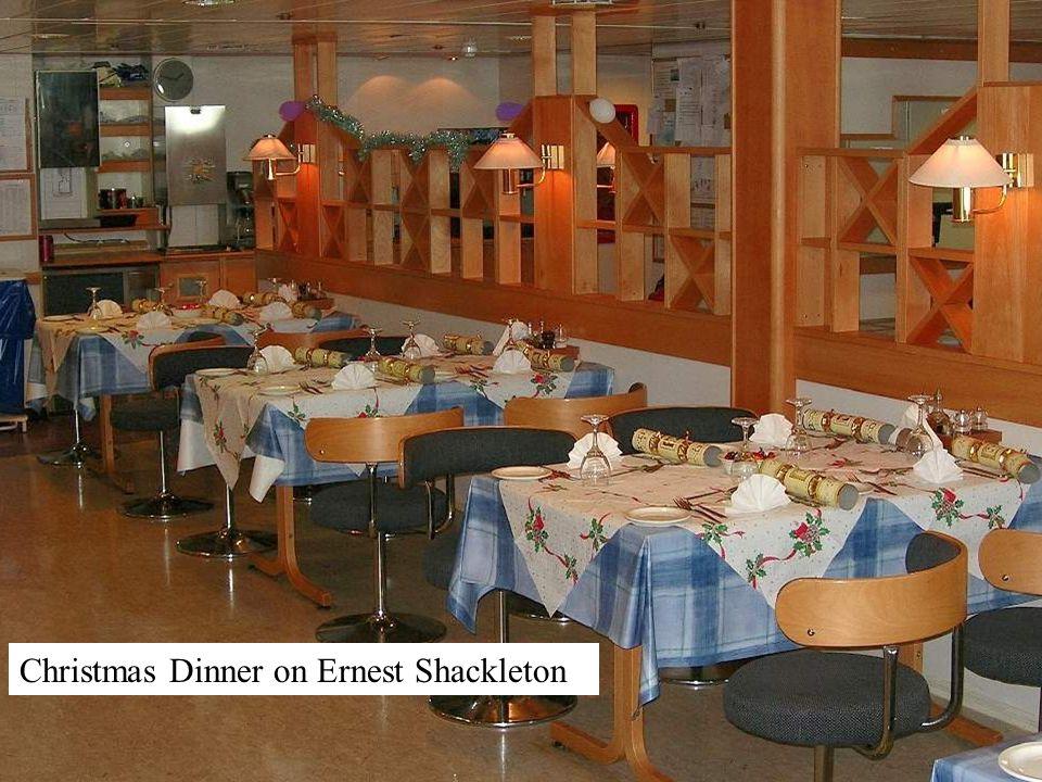 Christmas Dinner on Ernest Shackleton
