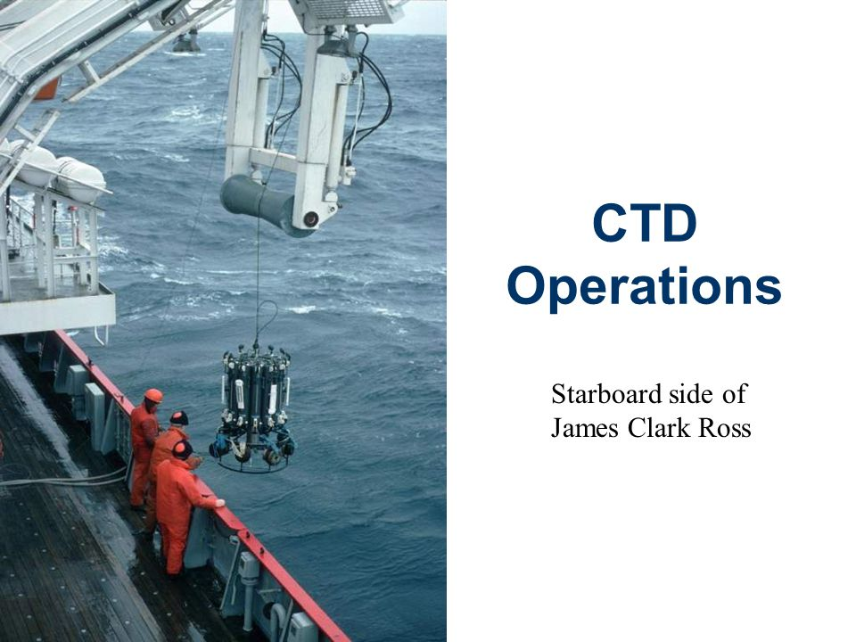 CTD Operations Starboard side of James Clark Ross