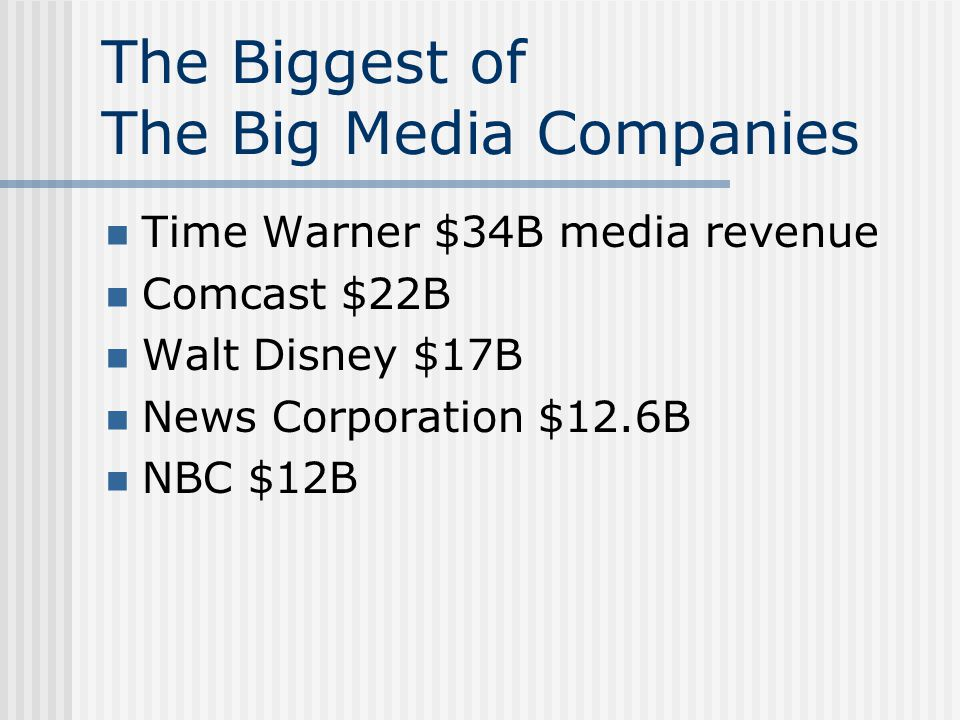 A Time Warner Primer Total media assets including television networks, cable TV networks, cable TV systems, consumer magazines, online services, book publishing, movie & TV production, music, entertainment venues, and retail outlets