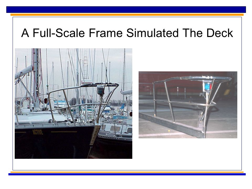 A Full-Scale Frame Simulated The Deck