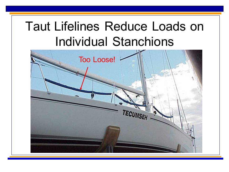 Taut Lifelines Reduce Loads on Individual Stanchions Too Loose!