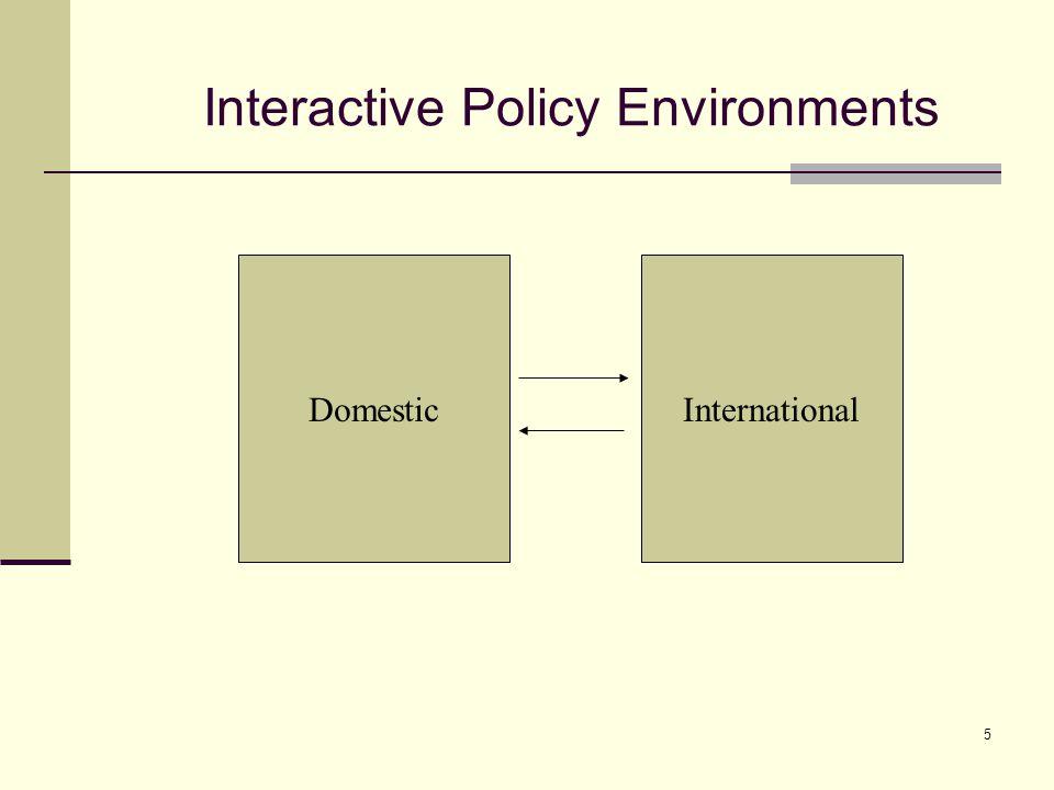 5 Interactive Policy Environments DomesticInternational