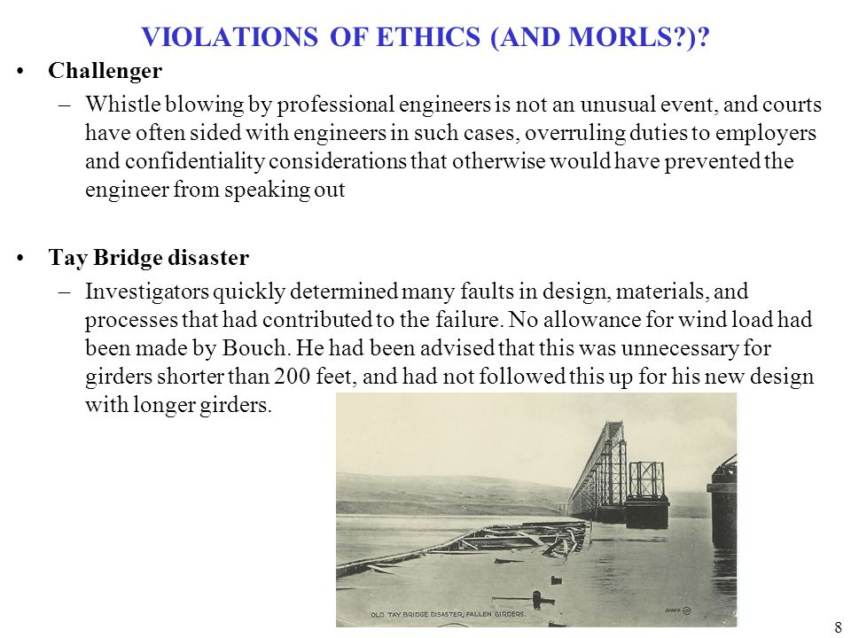 9 VIOLATIONS OF ETHICS (AND MORLS?).