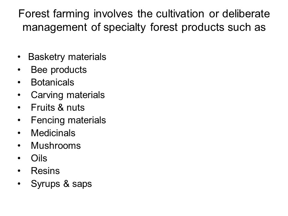Forest Farming Practices